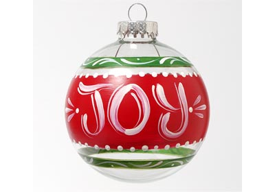 Joy and Noel Ornaments with FolkArt Multi-Surface Paint