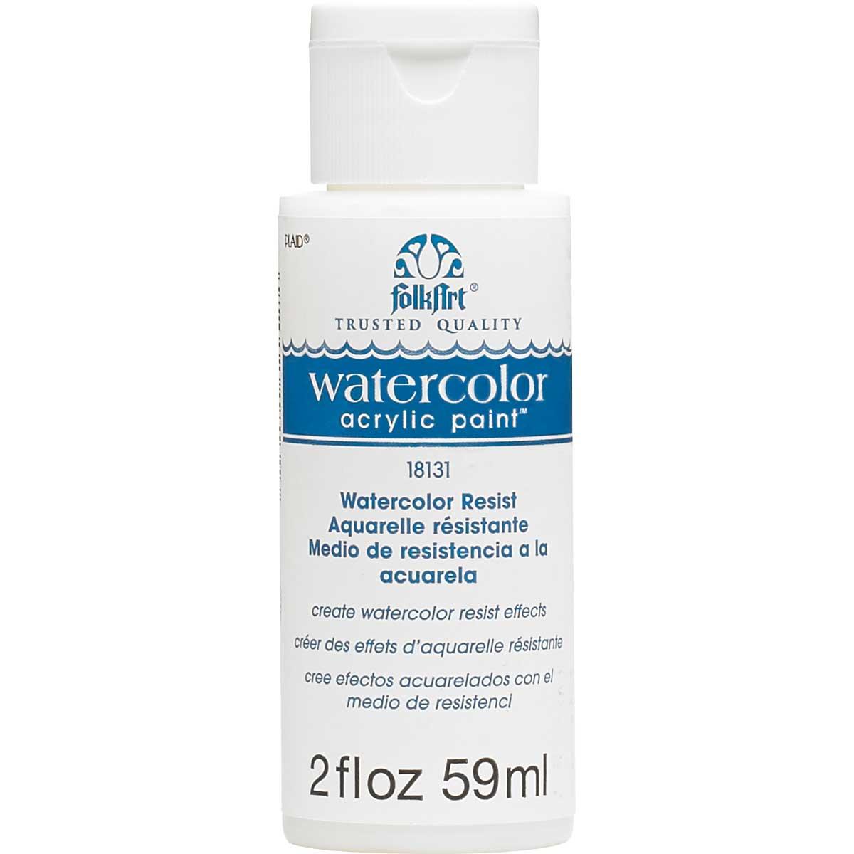 FolkArt ® Watercolor Acrylic Paint™ Resist 2 oz.