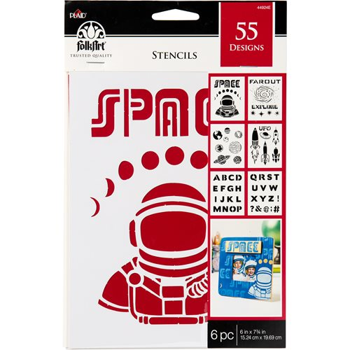 "FolkArt ® Stencil Value Packs - Space, 6"" x 7-3/4"" - 44924E"