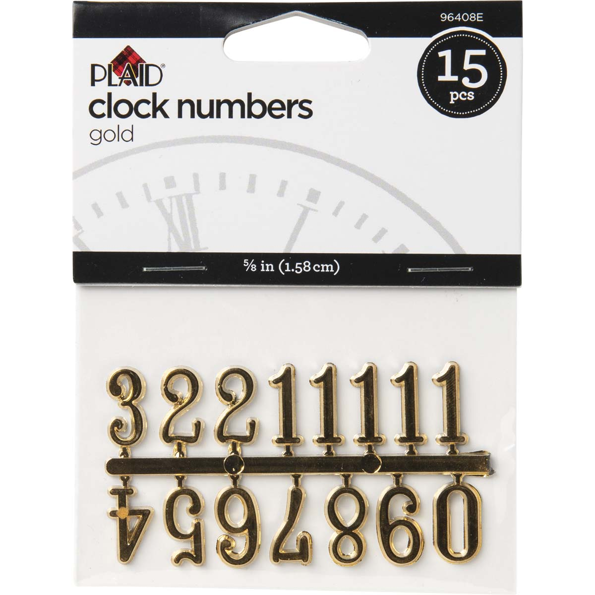 Plaid ® Accessories - Clock Numbers - Gold, 5/8