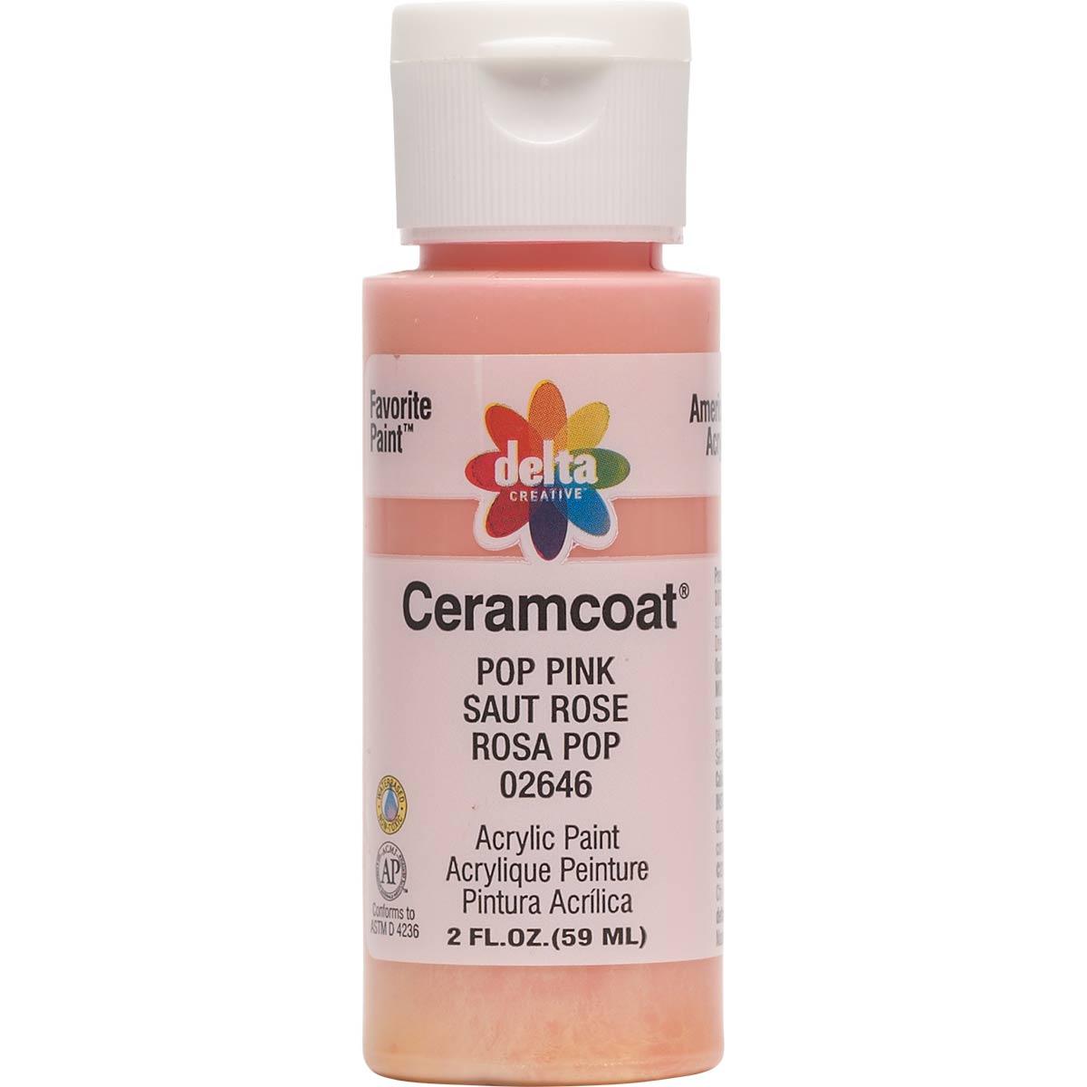 Delta Ceramcoat ® Acrylic Paint - Pop Pink, 2 oz.