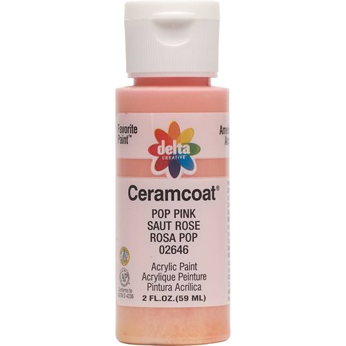 Delta Ceramcoat ® Acrylic Paint - Pop Pink, 2 oz.