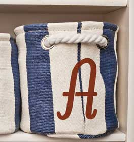 Italic Monogram Nautical Tote Bag