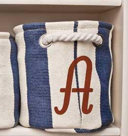 Italic Monogram Nautical Tote Bag