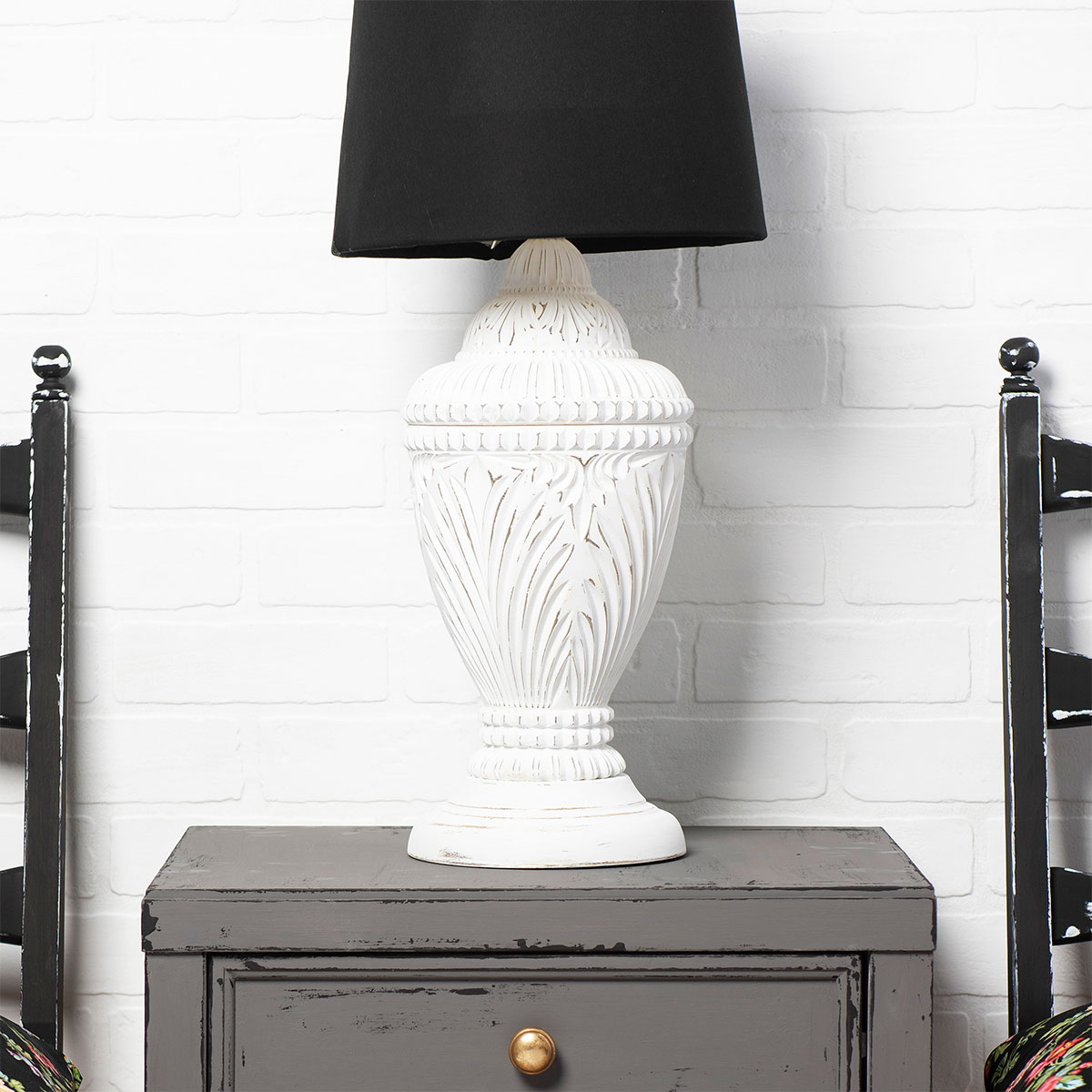 Painted Accent Lamp