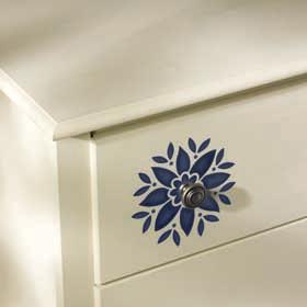 Stencil Accented Dresser