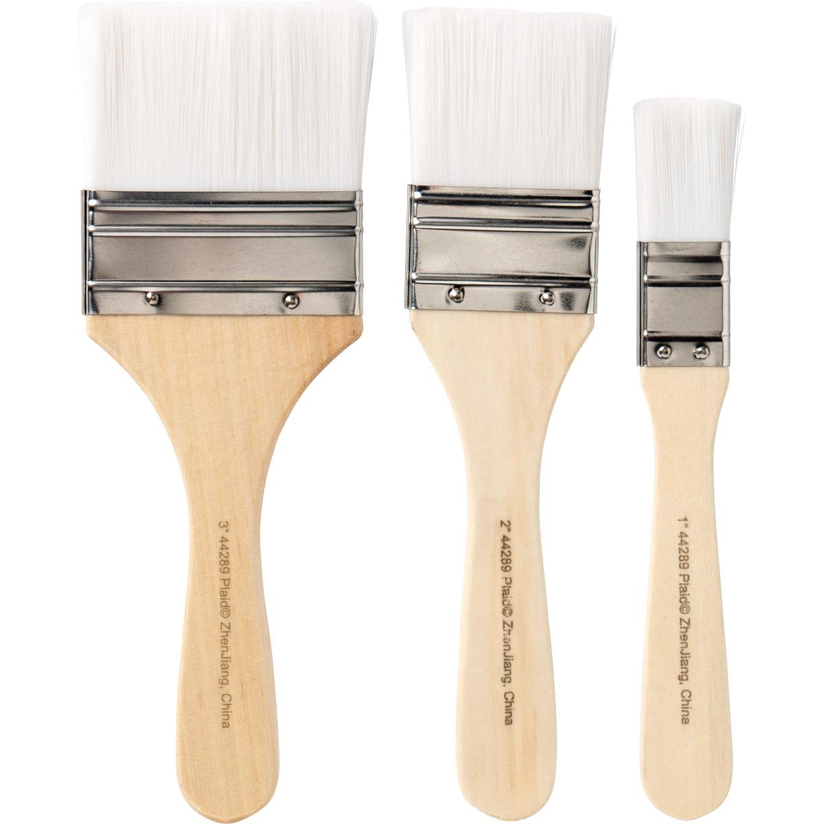 Plaid ® Brush Sets - White Nylon Chip Set