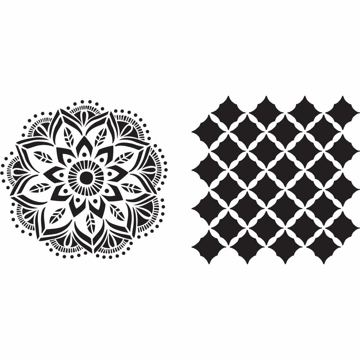 Fabric Creations™ Adhesive Stencils - Mandala, 6