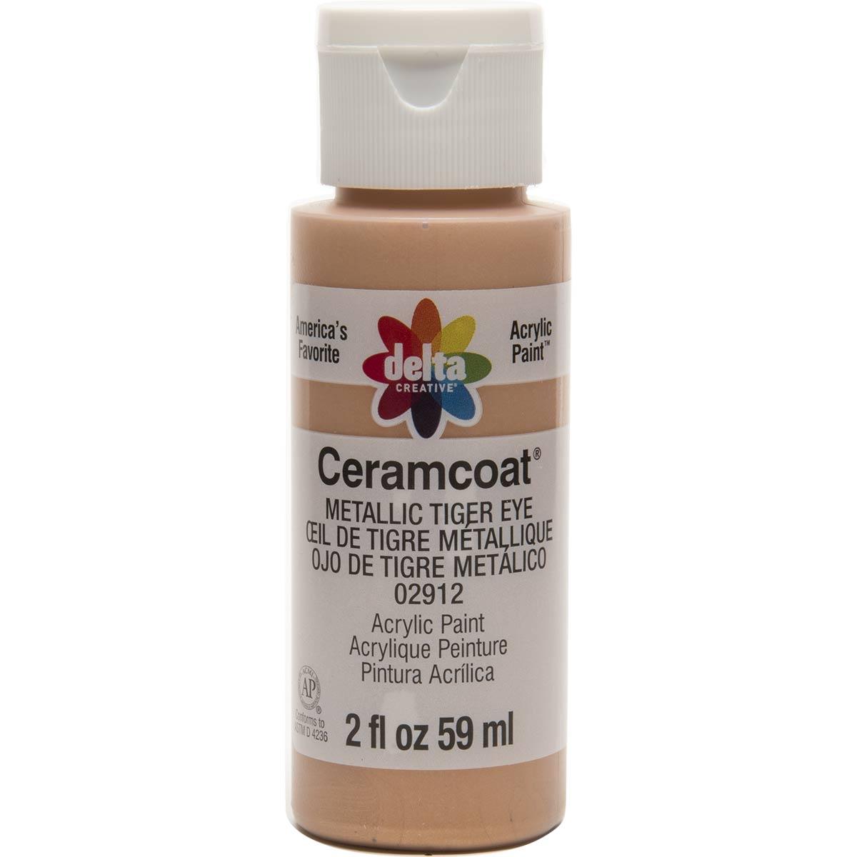 Delta Ceramcoat ® Acrylic Paint - Metallic Tiger Eye, 2 oz.
