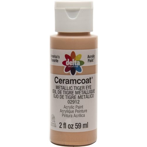 Delta Ceramcoat ® Acrylic Paint - Metallic Tiger Eye, 2 oz. - 02912