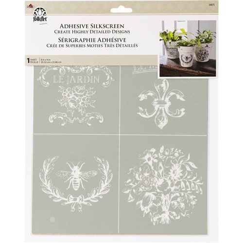 FolkArt ® Adhesive Silkscreen - French Farmhouse - 34975