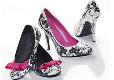 Black and White Mother and Daughter Mod Podge Shoes