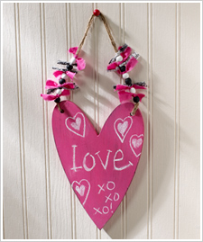 Chalkboard Heart Wall Plaque