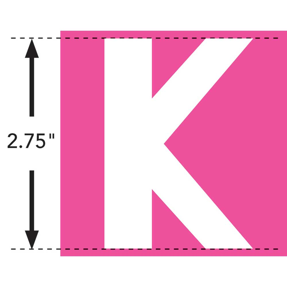 LaurDIY ® Iron-on Fabric Letters - K