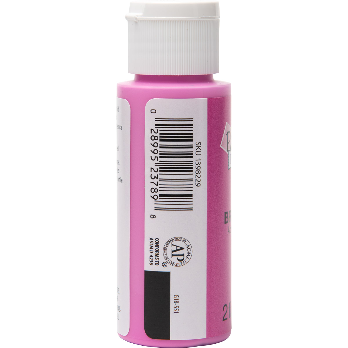 Plaid ® Painter's Palette™ Acrylic Paint - Bright Pink, 2 oz. - 23789