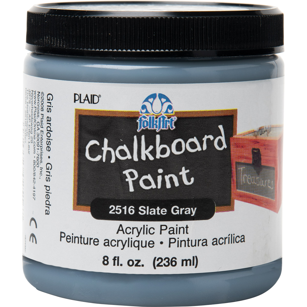 FolkArt ® Chalkboard Paint - Slate Gray, 8 oz. - 2516