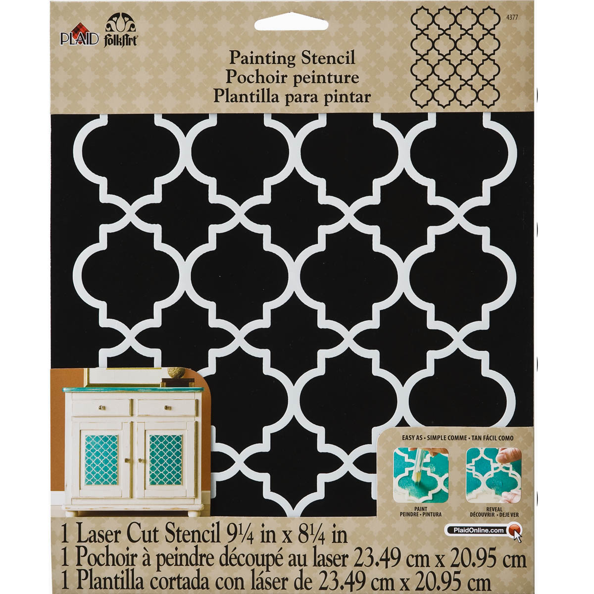 FolkArt ® Painting Stencils - Large - Moroccan Tile - 4377