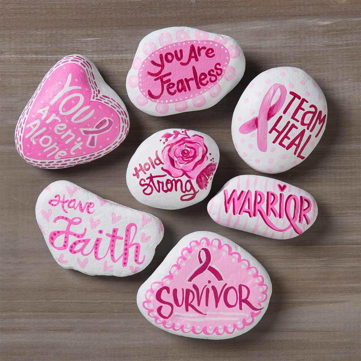 Breast Cancer Awareness DIY Kindness Rocks