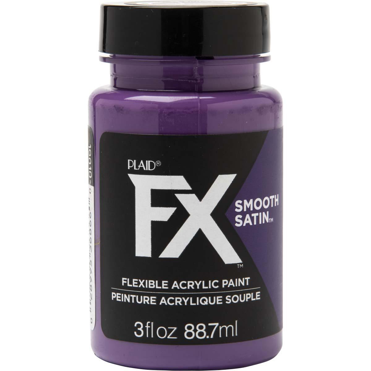 PlaidFX Smooth Satin Flexible Acrylic Paint - Malevolent, 3 oz. - 36866