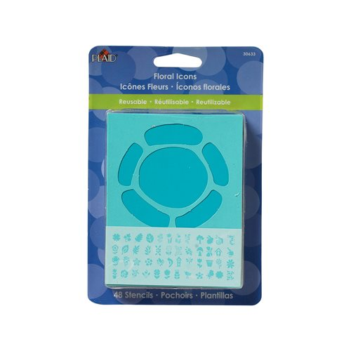 "Plaid ® Stencils - Value Packs - Letter Stencils - 3"" Floral Icons"