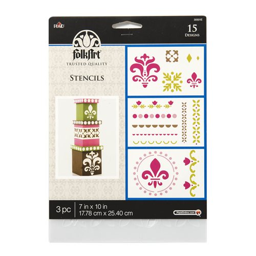 Plaid ® Craft Stencils - Value Packs - Home Décor