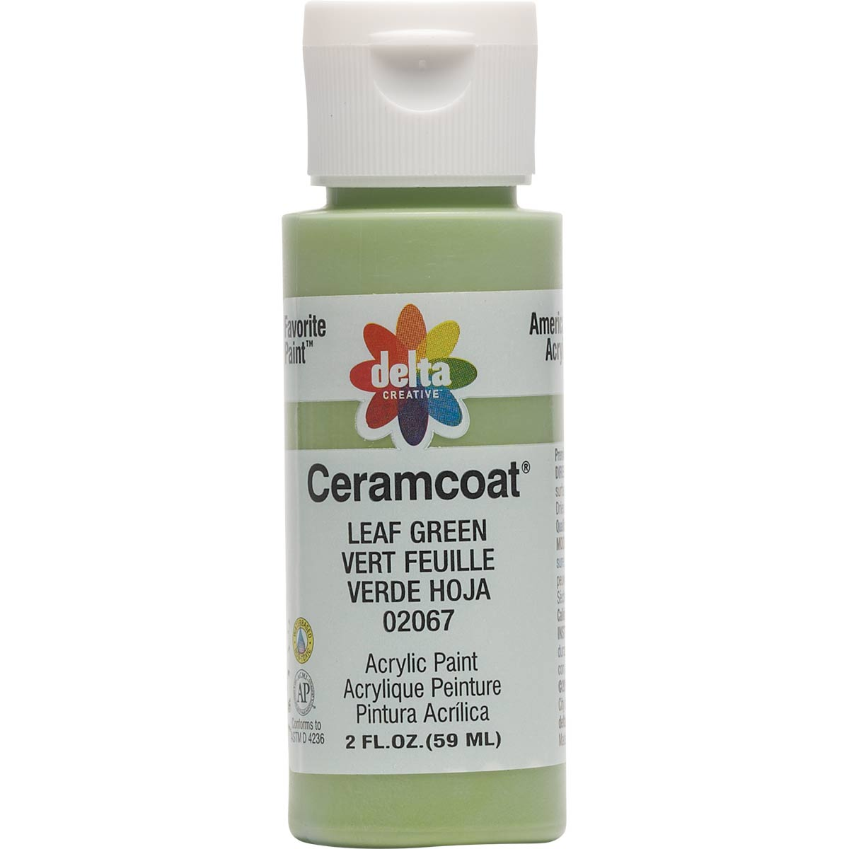 Delta Ceramcoat ® Acrylic Paint - Leaf Green, 2 oz. - 020670202W