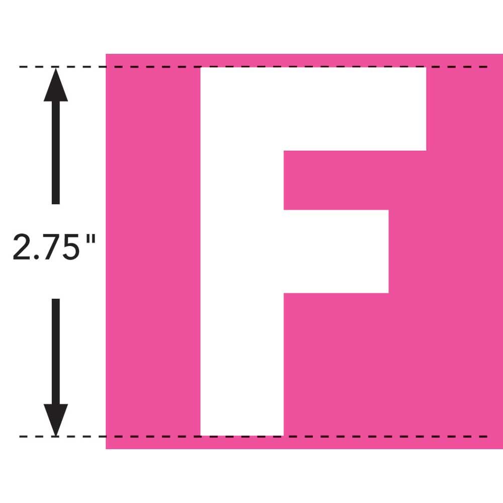 LaurDIY ® Iron-on Fabric Letters - F
