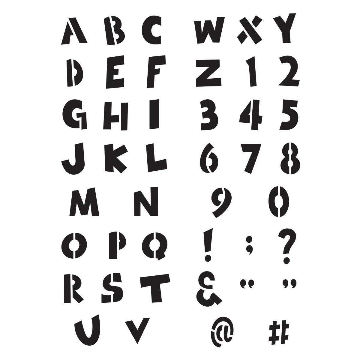 Delta Creative™ Stencil - Playtime Alphabet
