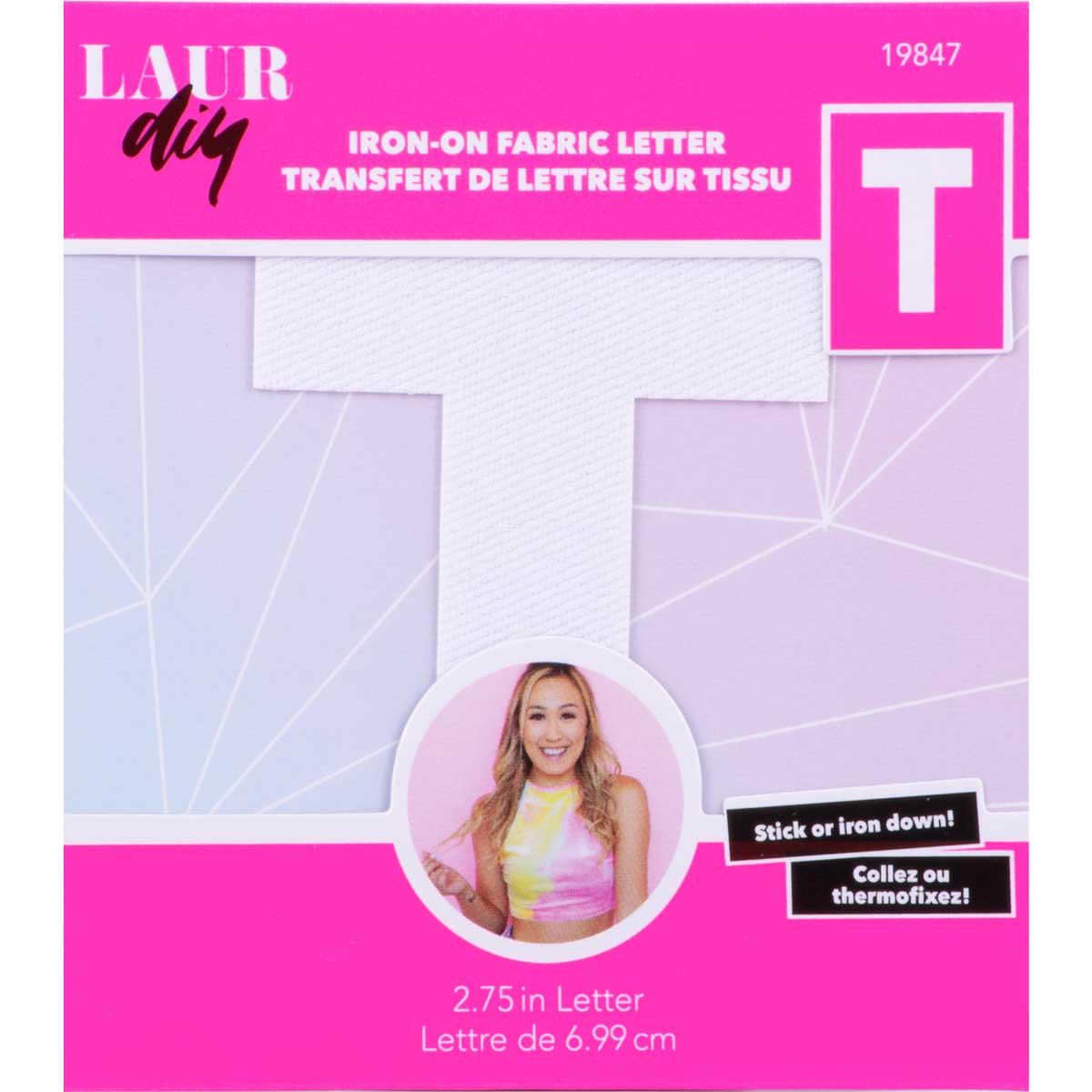 LaurDIY ® Iron-on Fabric Letters - T