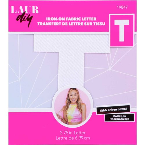 LaurDIY ® Iron-on Fabric Letters - T