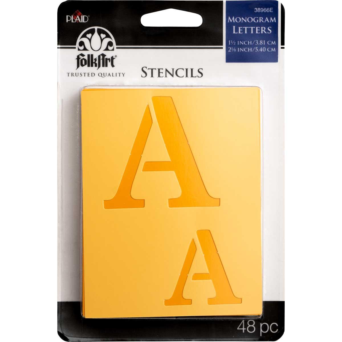 FolkArt ® Stencil Value Packs - Letter Stencils - Monogram
