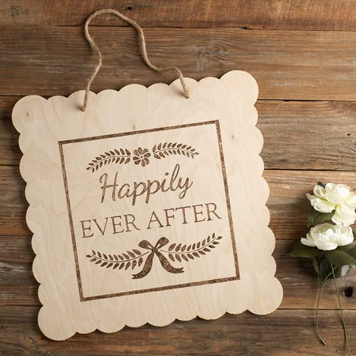 Scalloped Wedding Sign