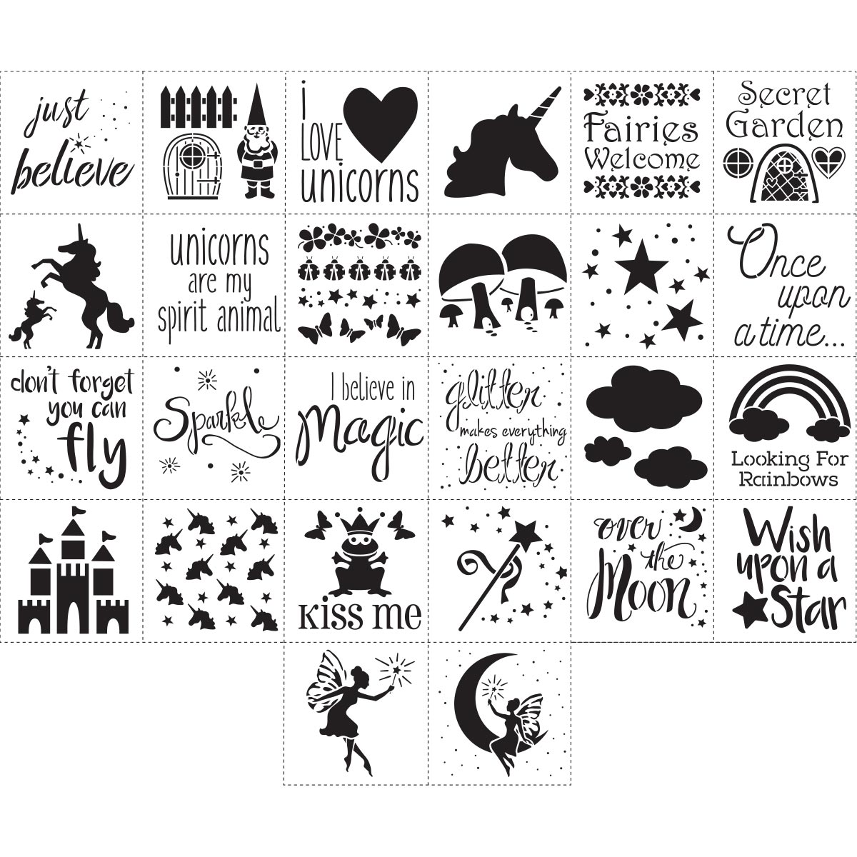 FolkArt ® Stencil Value Packs - Fantasy, 12