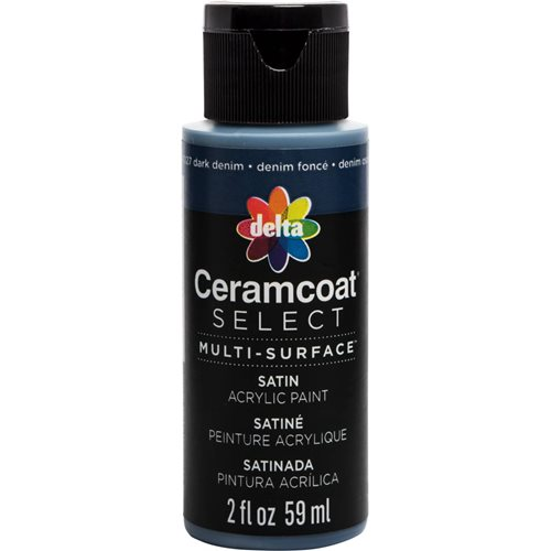 Delta Ceramcoat ® Select Multi-Surface Acrylic Paint - Satin - Dark Denim, 2 oz.