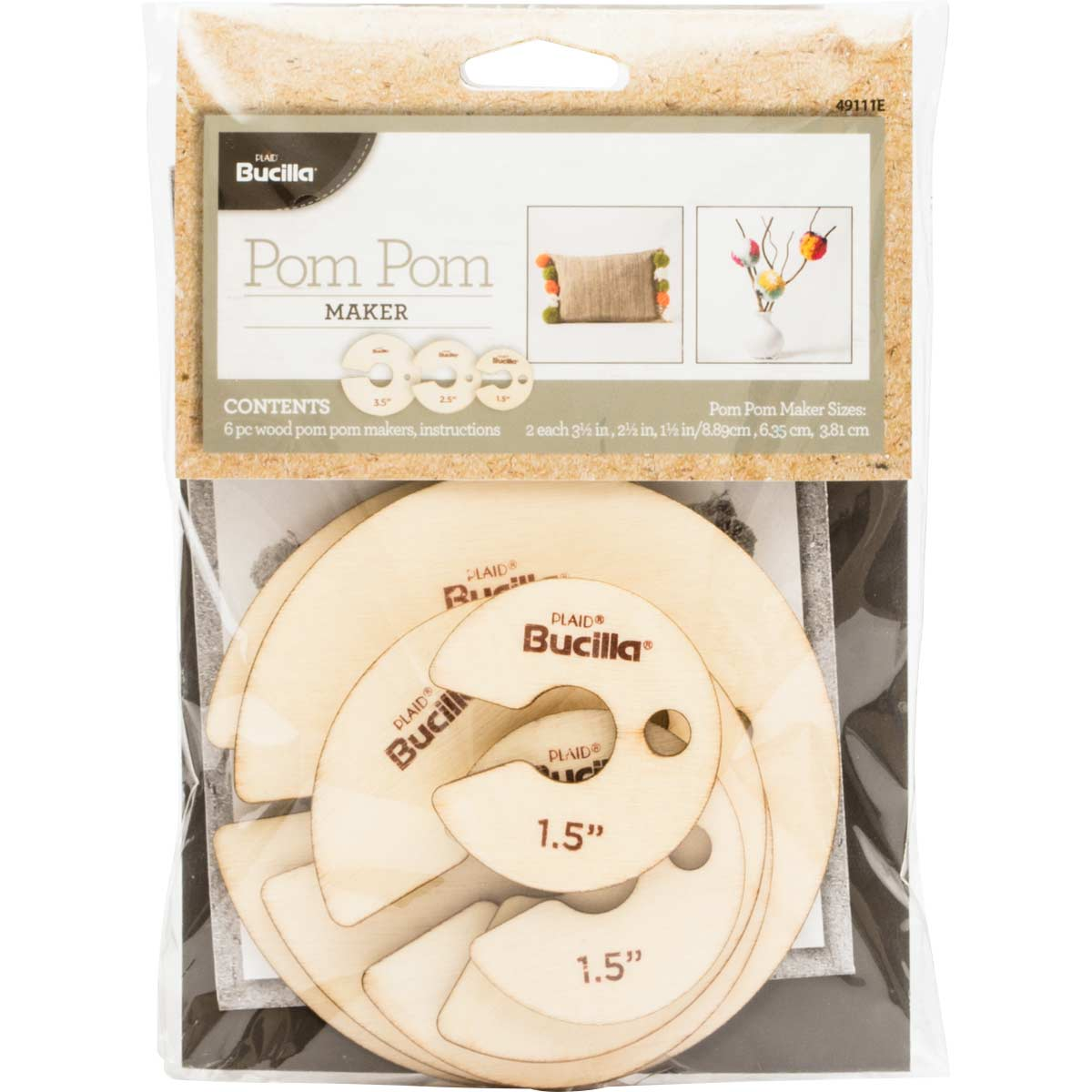 Bucilla ® Pom Pom Maker 6 pc.