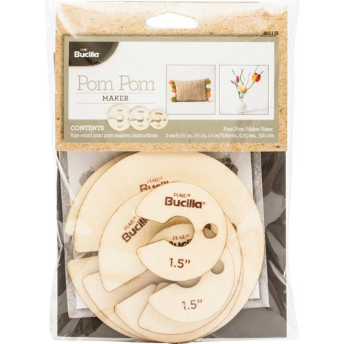 Bucilla ® Pom Pom Maker 6 pc. - 49111