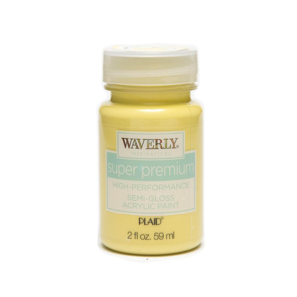Waverly ® Inspirations Super Premium Semi-Gloss Acrylic Paint - Lemon Curd, 2 oz.