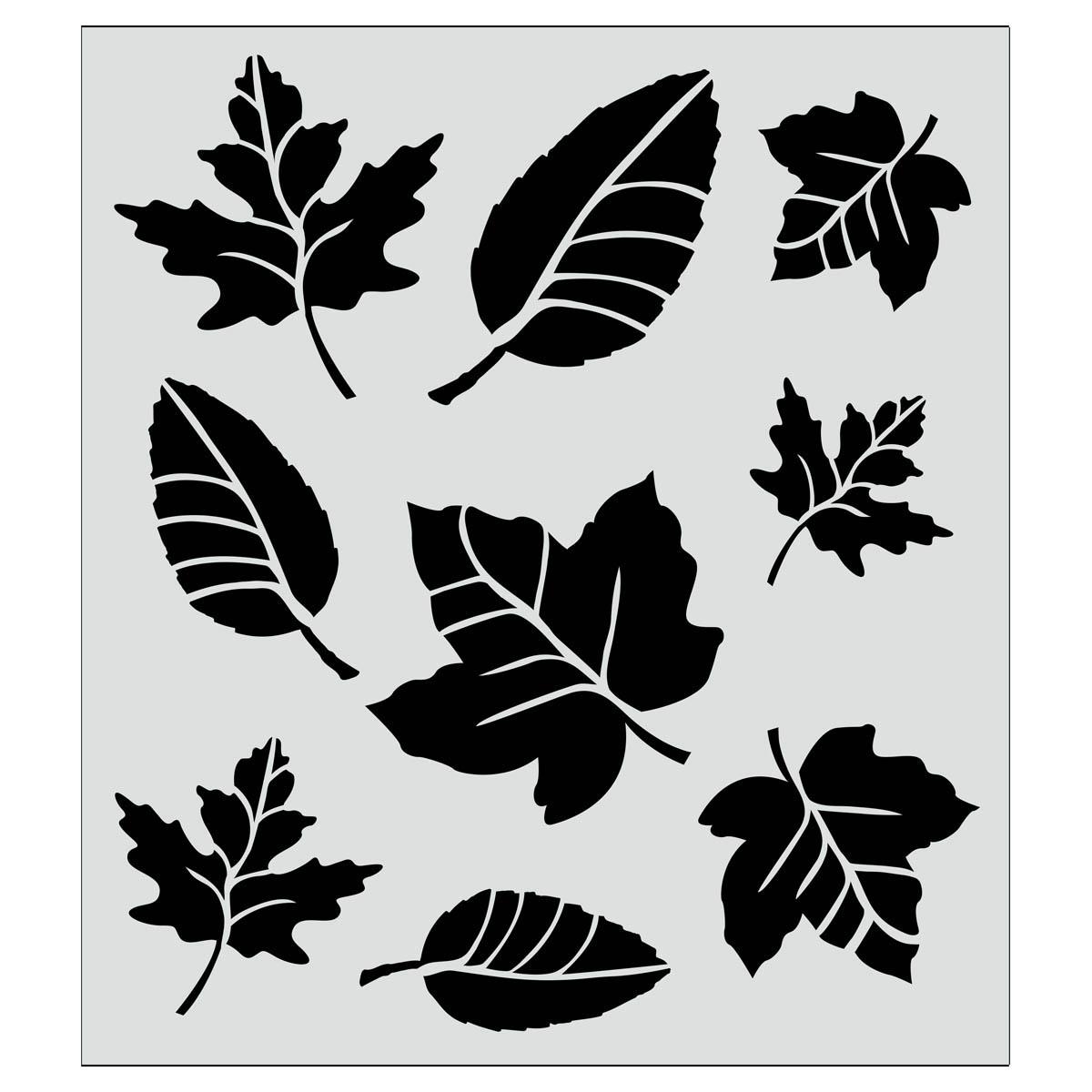 FolkArt ® Painting Stencils - Leaf Variety