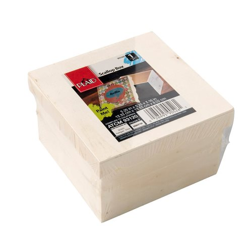 Plaid ® Wood Surfaces - Scallop Box