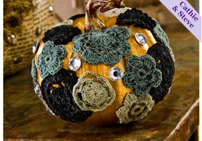 Crochet Flower Pumpkins