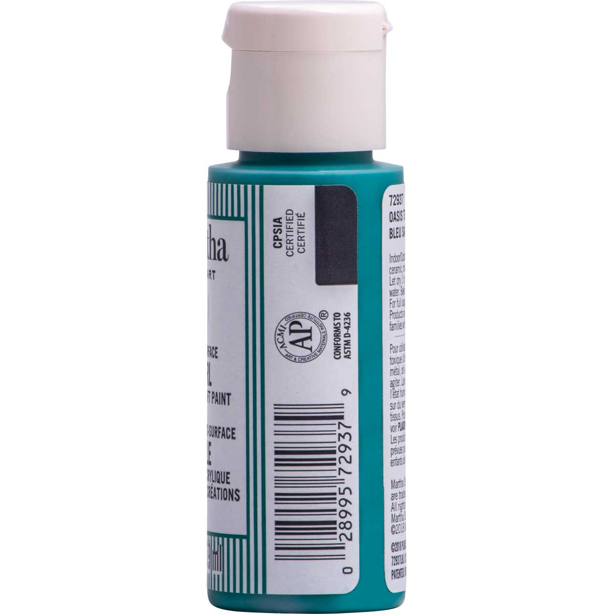 Martha Stewart ® Multi-Surface Pearl Acrylic Craft Paint CPSIA - Oasis Teal, 2 oz. - 72937