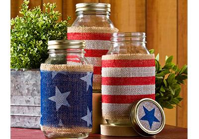 American Flag Jars