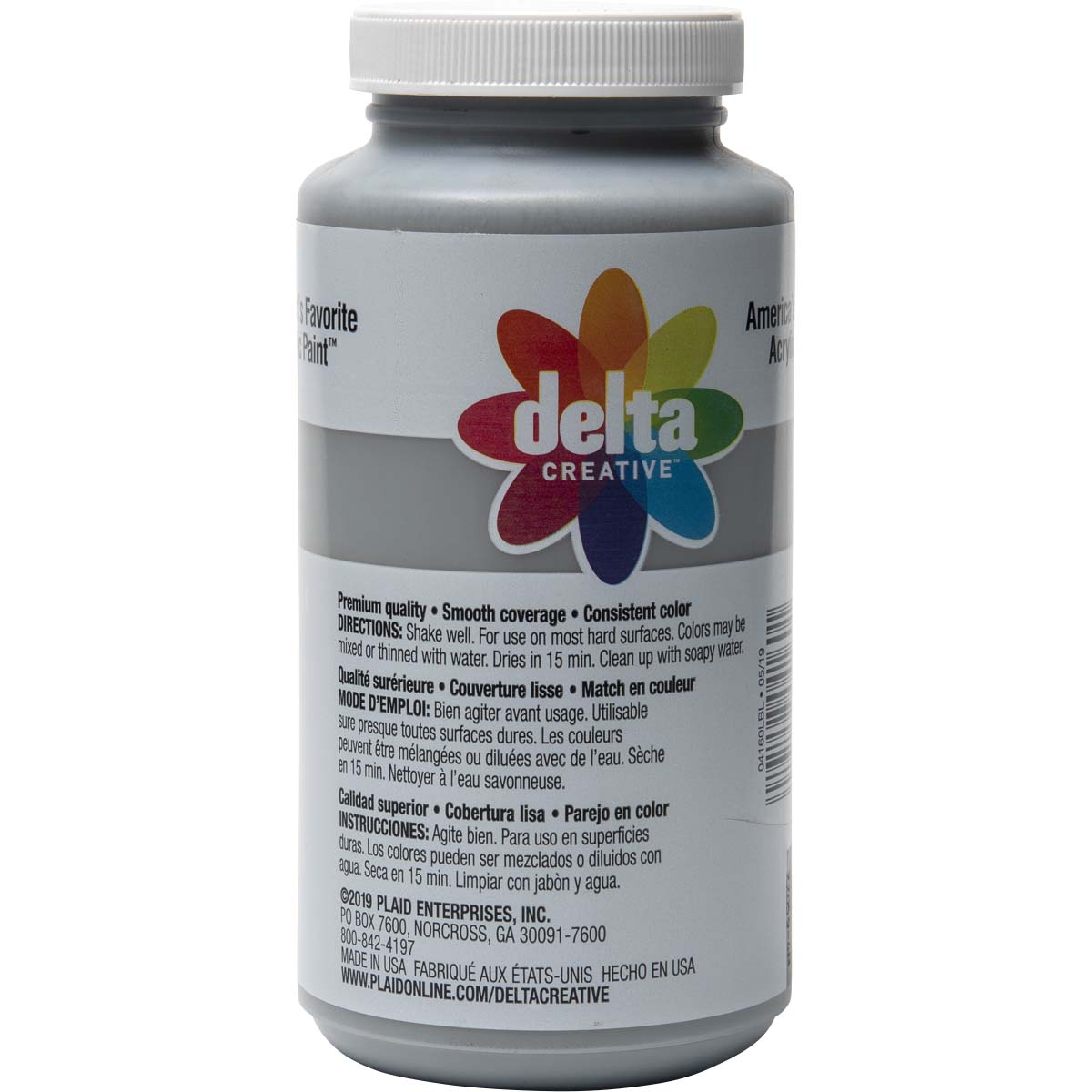 Delta Ceramcoat ® Acrylic Paint - Rain Grey, 16 oz. - 04160