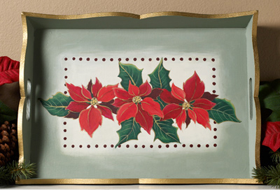 Poinsetta Tray
