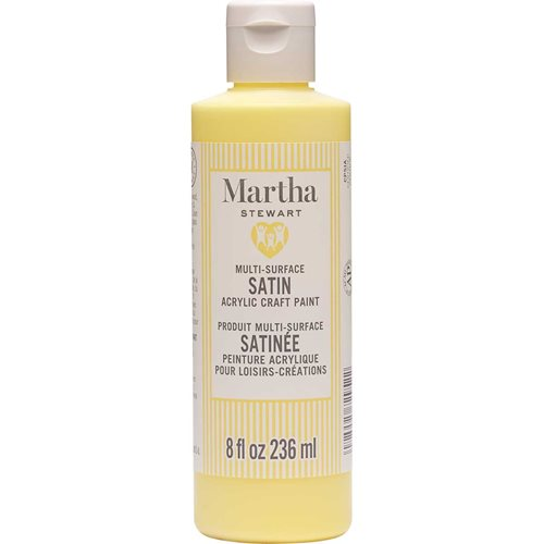 Martha Stewart ® Multi-Surface Satin Acrylic Craft Paint CPSIA - Sunshine Yellow, 8 oz. - 72952
