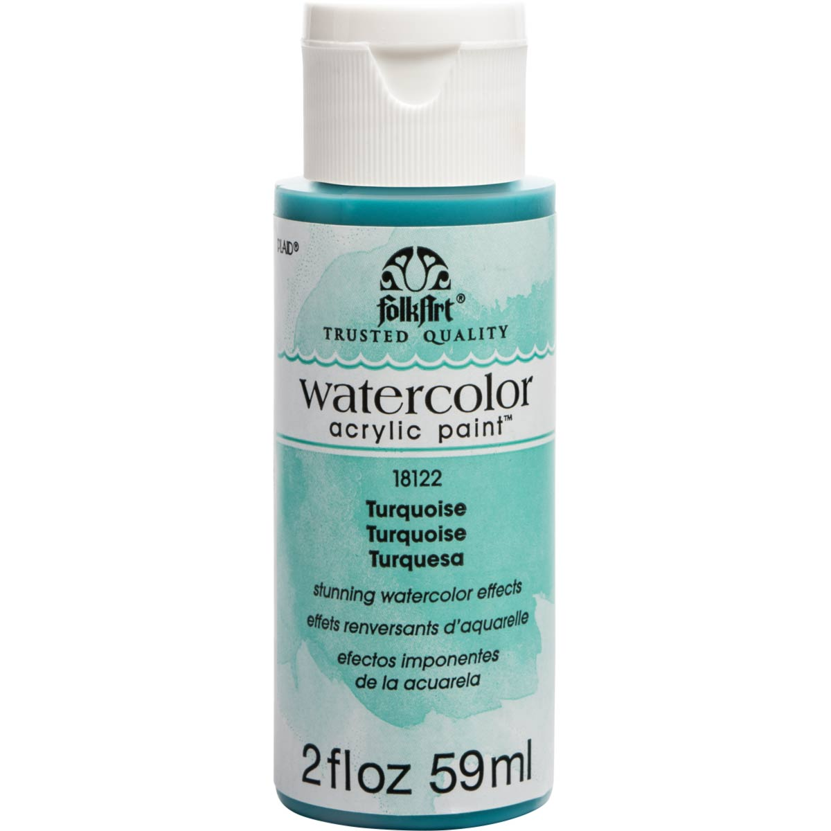 FolkArt ® Watercolor Acrylic Paint™ - Turquoise, 2 oz. - 18122