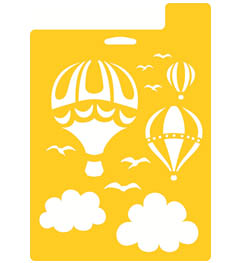 "Delta Stencil Mania™ - Hot Air Balloons, 7"" x 10"" - 971710710"