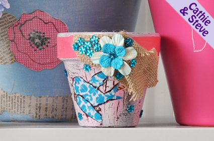 Blue Bird Pot