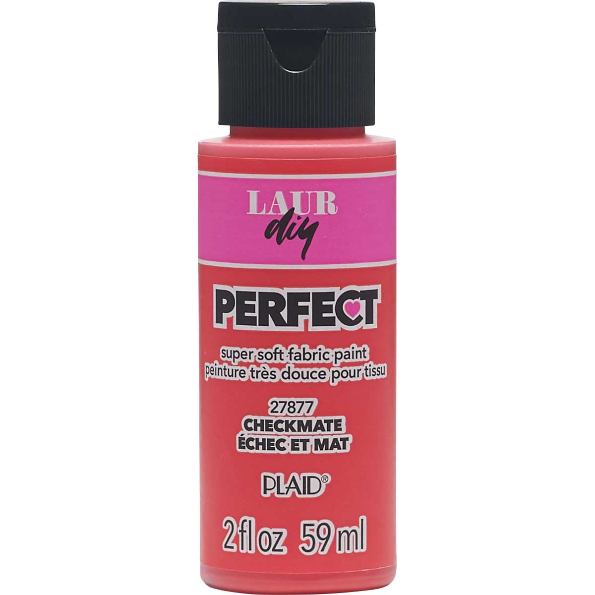 LaurDIY ® Perfect Fabric Paint - Checkmate, 2 oz.