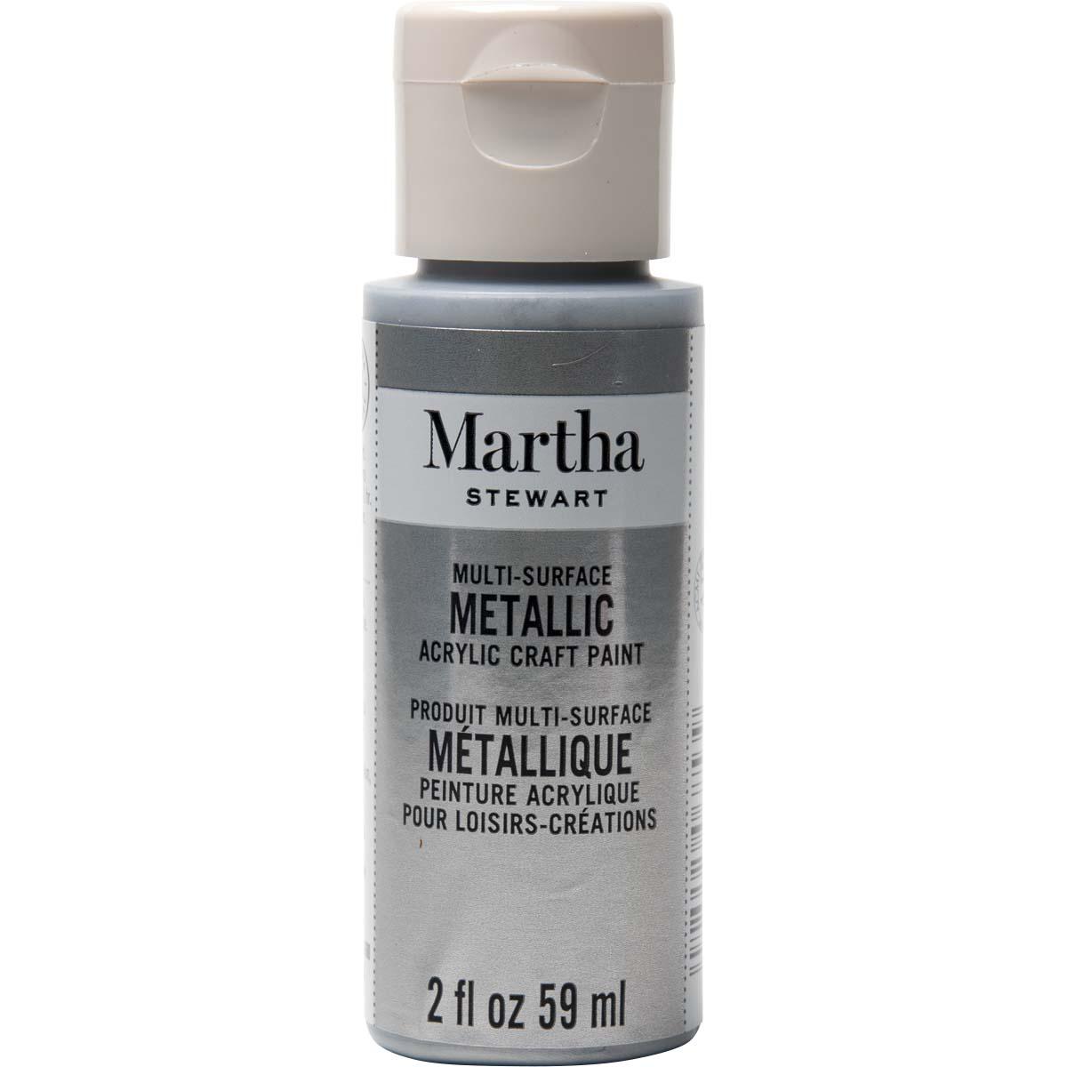 Martha Stewart® 2oz Multi-Surface Metallic Acrylic Craft Paint - Pure Platinum